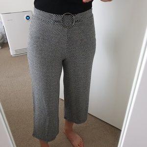 Zara High waist Wide Leg Pants knit culottes gray
